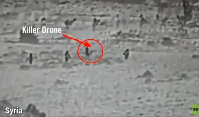 فيديو للجيش الاسرائيلي يزعم أنه لنشطاء إيرانيين يطلقون طائرة مسيرة